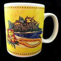 Oahu Coffee Mug Hilo Hattie Cup 10oz 2002 Island Heritage Yellow Lei Haw... - $8.79