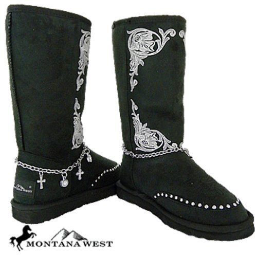 Montana West Western Winter Snow Boots Faux Fur Lining w/Anklet Women's Cowboy (