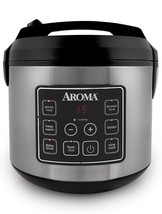 Aroma ARC-150SB 20-Cup, Cooked Digital Rice Cooker/Food Steamer, Black/S... - €106,70 EUR