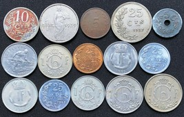 Lot of 15x Luxembourg Foreign Coins - Various Dates and Denominations - $7.44