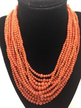 Natural Red Coral Victorian Necklace GIA Certified - $1,469.28