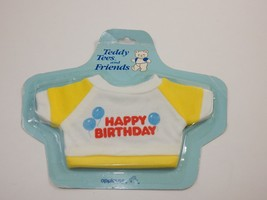 Applause 1986 Teddy Tees Happy Birthday Bear T-shirt SEALED - $12.86