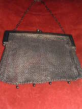 GERMAN SILVER LATE 1800'S SILVER MESH PURSE/ HANDBAG image 1