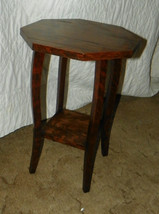 2 Tier Painted Grain Plant Stand / Side Table  (PS108) - $134.10