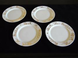 "Deck the Halls Dinner Plates 10 1/4"" Rosanna Target White Gold ITALY Set... - $37.73"