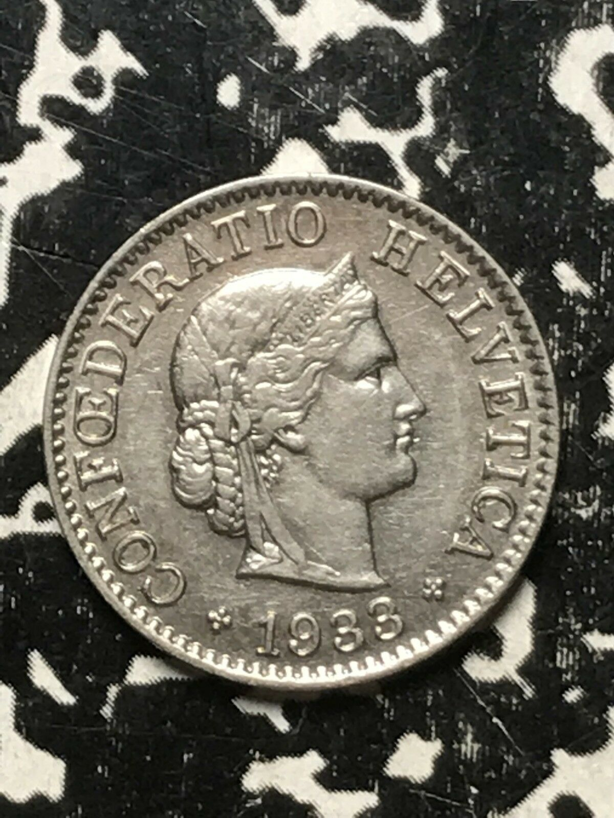1933 Suiza 5 Rappen Lote #0300 Bonito