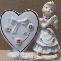 Vintage Shefford GIRL HEART PLANTER 5B/204 GOLD... - $89.99