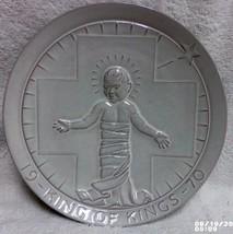 Frankoma 1970 King Of Kings Jesus Christmas Nativity Plate White Sand John Frank - $14.99