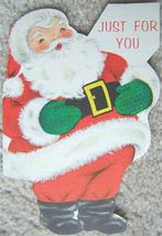 VINTAGE SANTA CLAUS CHRISTMAS GREETING CARDS SIX Holiday CARDS image 3