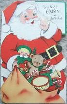 VINTAGE SANTA CLAUS CHRISTMAS GREETING CARDS SIX Holiday CARDS image 2