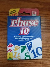 SEALED Phase 10 Card Game, Mattel, Ages 7+, 108-Card Deck, Rummy-Type Card Game - $8.90