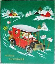 VINTAGE SANTA CLAUS CHRISTMAS GREETING CARDS SIX Holiday CARDS image 4