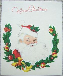 VINTAGE SANTA CLAUS CHRISTMAS GREETING CARDS SIX Holiday CARDS image 6