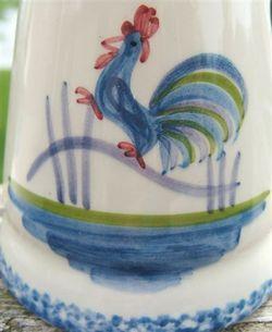 Roosters Strutting Whimsical Vintage Ceramic Salt and Pepper Shaker Set  1970s image 2