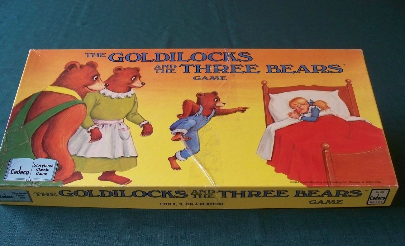 Goldilocks And The Three Bears Game Cadaco 1989 Complete
