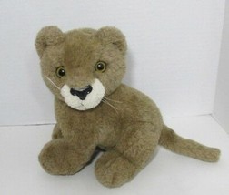 PLUSH Dakin brown cat or lion cub VINTAGE 1986 DAKIN  KOREA cream face - $19.79