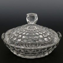 "Fostoria American Crystal Bowl 5 1/2"" Covered Lemon Dish"