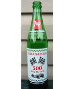 7 UP Indianapolis 500 Souvenir Bottle Race Car Flags Winners May 1979 Vi... - $37.99