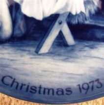 ak kaiser Holy Night Christmas plate west germany blue white porcelain 1973 image 4