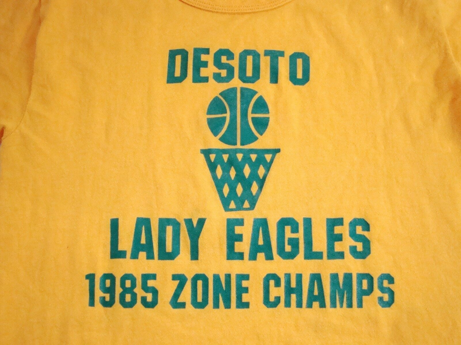 Primary image for Vintage Desoto Texas Lady Eagles 1985 80's High School Basketball Thin T Shirt M
