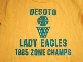 Vintage Desoto Texas Lady Eagles 1985 80's High School Basketball Thin T... - $20.05