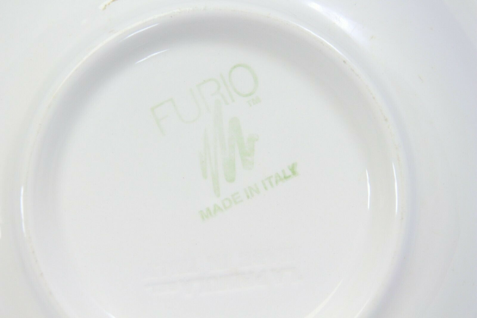 "Furio Xmas Tree Soup Bowls 8.125"" Lot of 4 Made in Italy image 5"