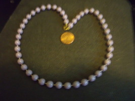 Vintage 18 inche Beads in Lilac Color with Spring Ring Clasp - $12.00
