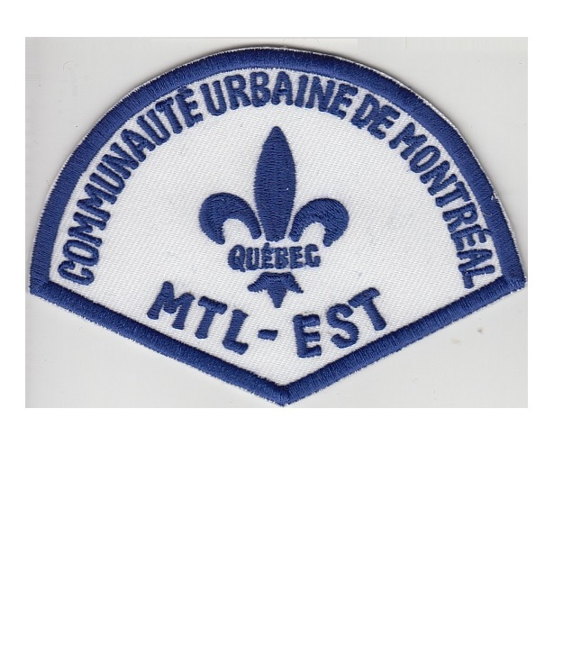 Treal police department communaute urbaine montreal est station retired patch 3.5 x 4.75 in 9.99