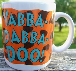 The Flinstones Yabba Dabba Doo Ceramic Collectors Mug Cup Dakin Original Box image 3