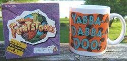 The Flinstones Yabba Dabba Doo Ceramic Collectors Mug Cup Dakin Original Box image 4