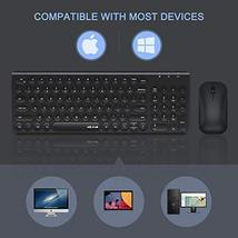 Rechargeable Wireless Keyboard and Mouse, Jelly Comb 2.4GHz Ultra Slim Quiet Key image 8
