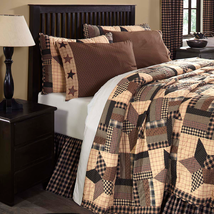 6-pc Bingham Star Queen Quilt Set - Oversized Quilt, P.Cases, Pillow -Vhc Brands