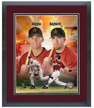 "11"" x14"" Framed & Matted Biggio & Bagwell Astros Legends-""Portrait Pluse... - $43.95"