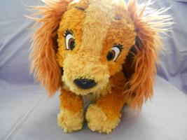 """Walt Disney Lady Tramp Soft Fluffy Dog Plush Stuffed Animal 11 1/2"""" No Tags - $5.33"""