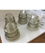 Vintage Hemingray Electrical Insualors Lot of 4 Made in US USA - $49.48