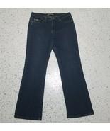 Women's Lee Denim Jeans ~ Sz 12 M ~ Dark ~ Natural Bootcut ~ Just Below ... - $18.80