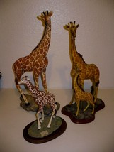 Giraffe Family Polyresin Giraffe Statues Large set of 3 Collectible Figu... - $178.19