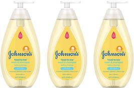 Johnson's Head-to-Toe Gentle Tear-Free Baby & Newborn Wash & Shampoo, 3 ... - $16.78