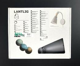 Ikea Lantlig Childrens Room Gray Wall Mount Lamp LED Light Bed Side Read... - $32.87