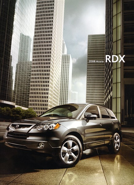 2008 Acura RDX sales brochure catalog US 08 Turbo SH-AWD Honda