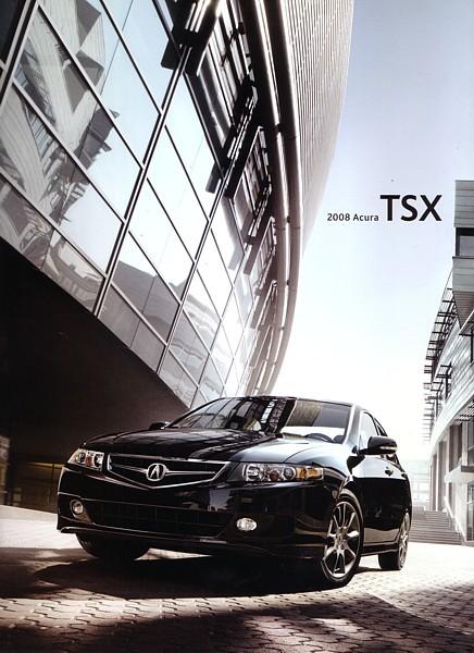 2008 Acura TSX sales brochure catalog US 08 Honda Acura