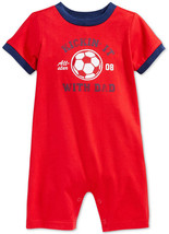 First Impressions Baby Boys' Soccer Romper, Tango Red, Size 12 M, MSRP $18 - $9.89