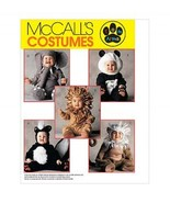 McCalls 8938 Toddler Size 4 Animal Costumes Arm... - $9.95