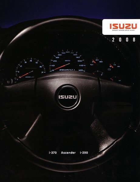 2008 ISUZU full line brochure catalog US ASCENDER i- 290 370