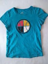 Nike Sportswear S Womens Tshirt Light Blue with Multicolour Basketball L... - $14.78