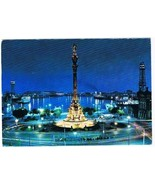 Barcelona Spain Postcard Monument To Christopher Columbus - $2.84