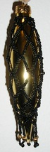 Victorian Handmade Christmas Ornament-Gold, Black image 1