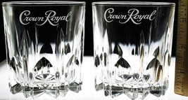 Crown Royal Tumbler/Bar Glasses Star Bottom SET OF 2 - 10 oz. - $38.59