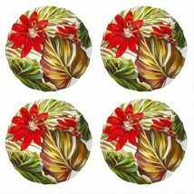 "Coastal Melamine Tropical Seascapes Salad Dessert Plates 9"" set of 4 Bea... - $49.38"