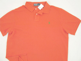 NEW! NWT! Polo Ralph Lauren Weathered Orange CUSTOM FIT Mesh Polo Shirt!... - $49.99